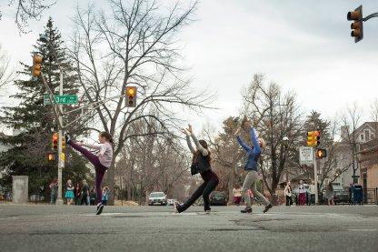 Crosswalk trio