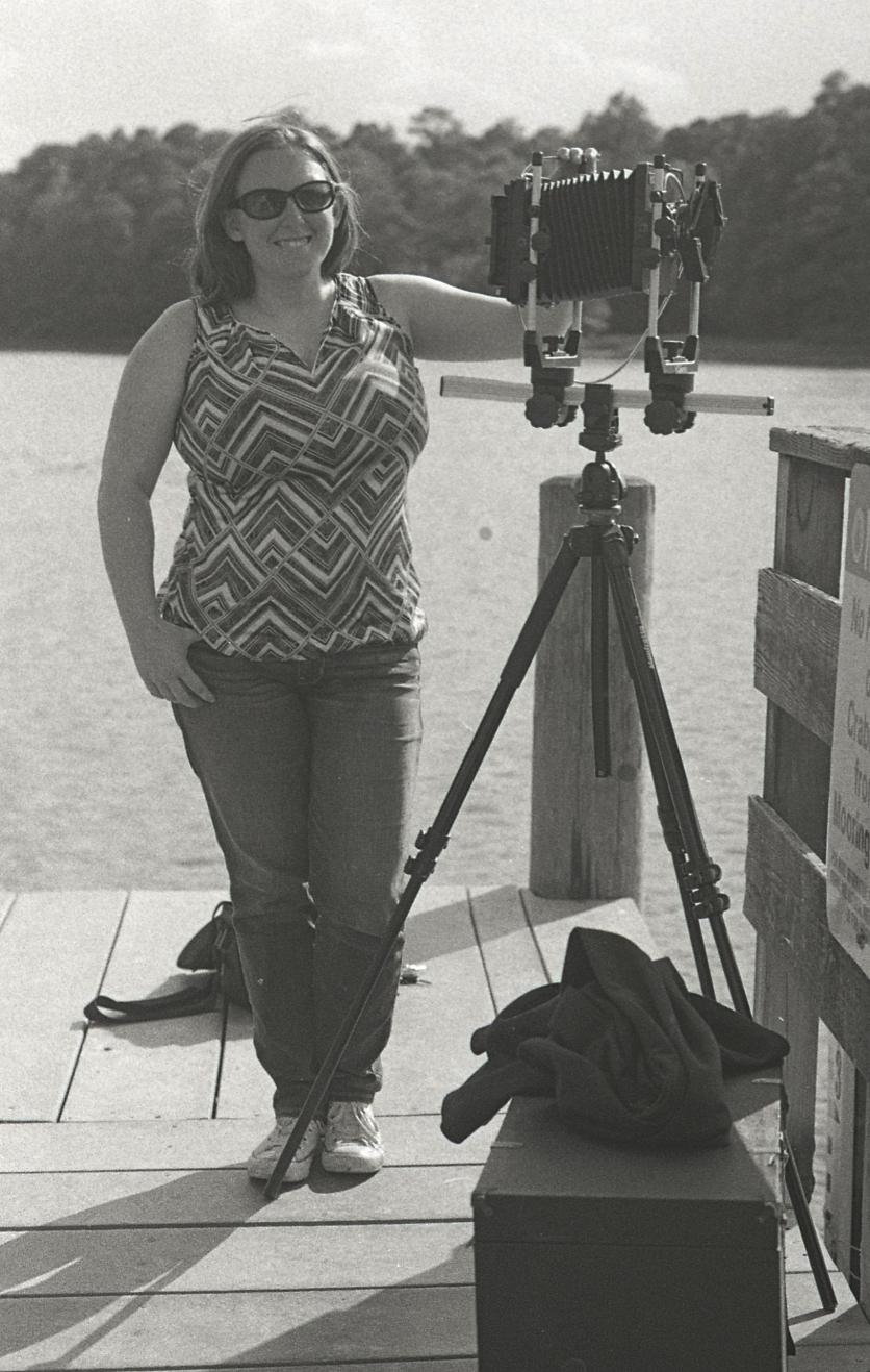 Amanda with old fashioned camera