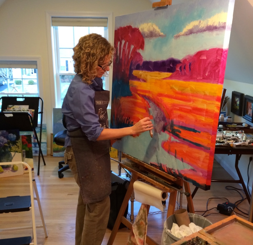 Studio work-large painting